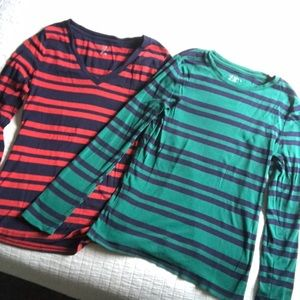 Both striped Merona shirts one price! ❤️💙💚💙